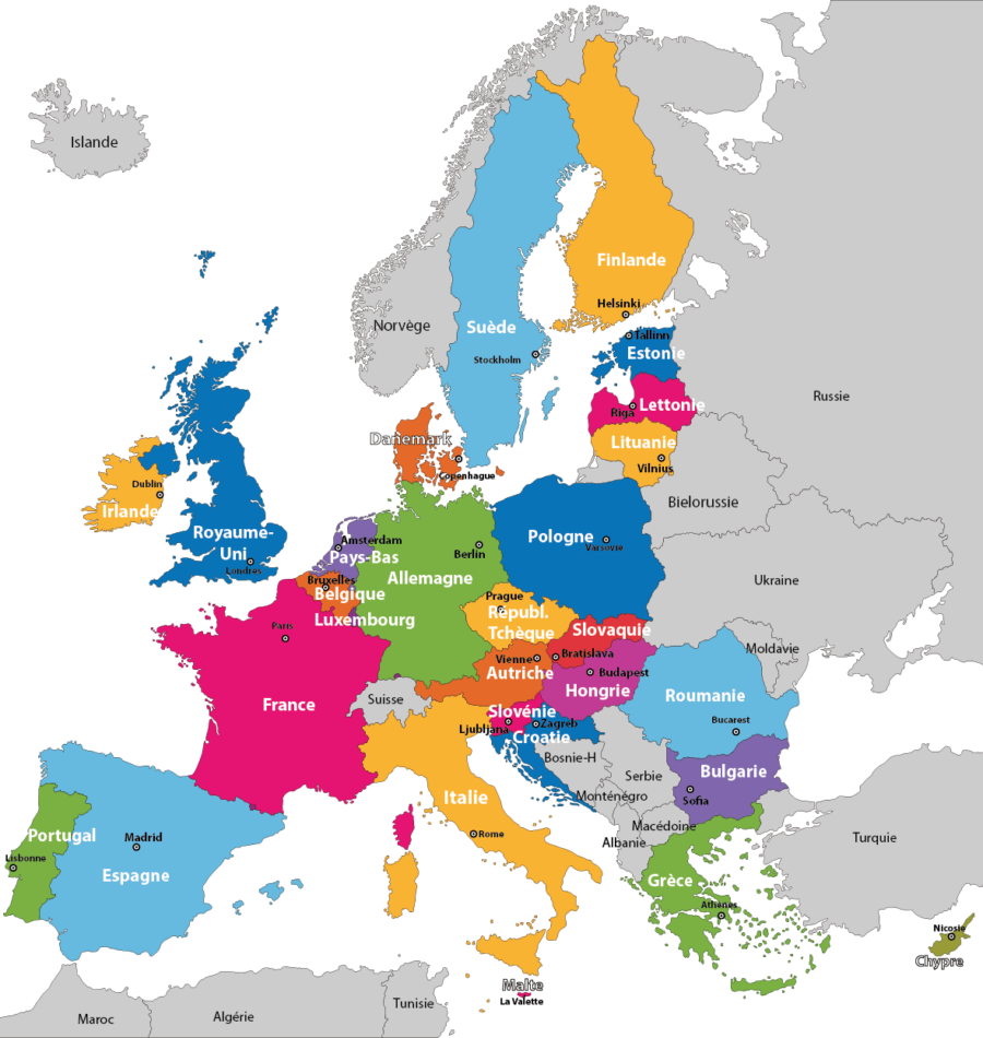 Annuaire interactive d'Europe